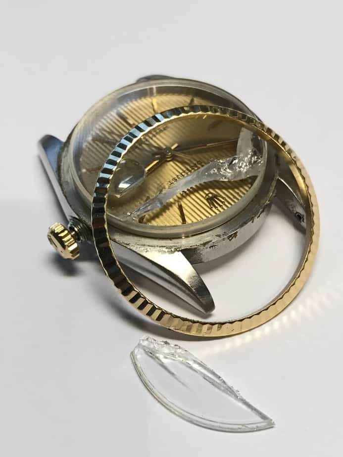 Rolex broken sapphire